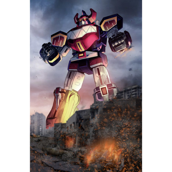 Megazord on Dark Background