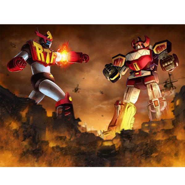 Robo Toy Fest Robot versus Megazord Powermorphicon RTF Exclusive