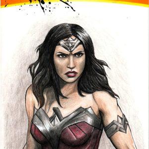Wonder Woman Sketch Cover Megan Risk